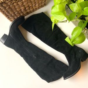 Born suede leather Over The Knee Boots black